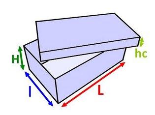 Boîte automontable : dimensions