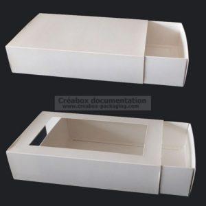 boite tiroir avec ou sans fenetre sur mesure