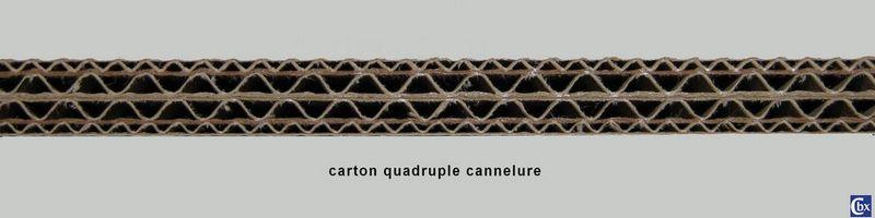carton 4 cannelures - cuadruplex