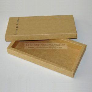 boite carton kraft pour foulard