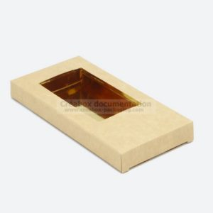 étui en carton kraft pour tablette de chocolat