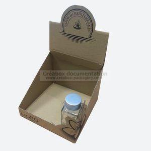 boite présentoir - carton kraft - mélange pour cocktail
