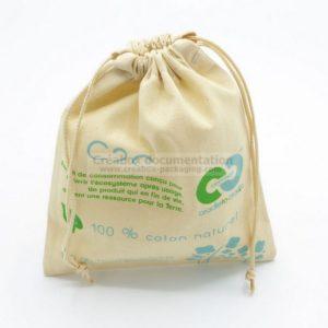 pochon coton - impression 2 couleurs - produits hygiène